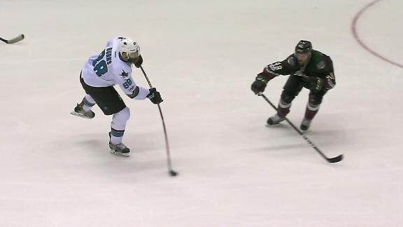 Burns strikes twice in Sharks' win