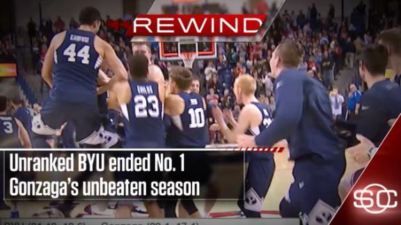 BYU's upset of Gonzaga highlights wild night in hoops