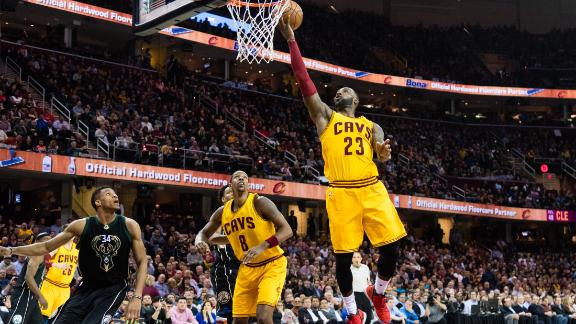 LeBron returns from strep throat with 24 points