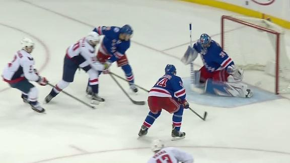 Johansson's two goals leads Caps past Rangers