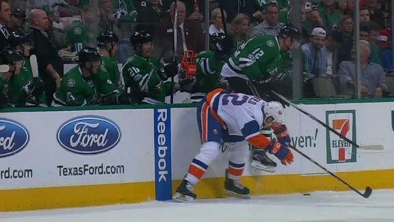 Faksa dazzles in loss to Islanders