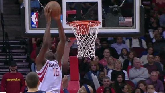 Capela pumped up after alley-oop