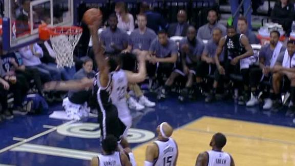 Hollis-Jefferson dunks home go-ahead basket