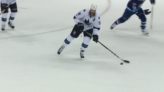 Thornton notches 1,000th assist in Sharks' win