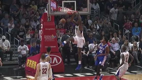 Paul, Jordan lead Clippers past 76ers