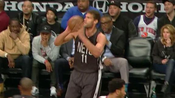 Lopez leads Nets past Knicks