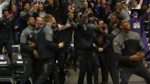 The moment Northwestern finds out it's going dancing