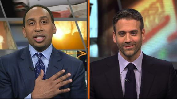Stephen A. can't say a bad word about Tebow's performance