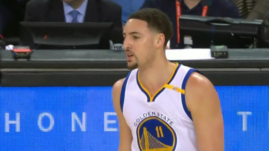 Thompson makes a splash with 21-point first quarter