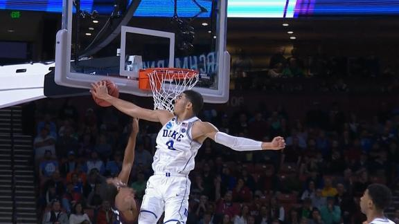 Tatum's monster block tells the story of Duke's rout