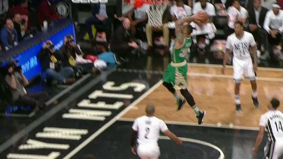 Green erupts for the powerful slam