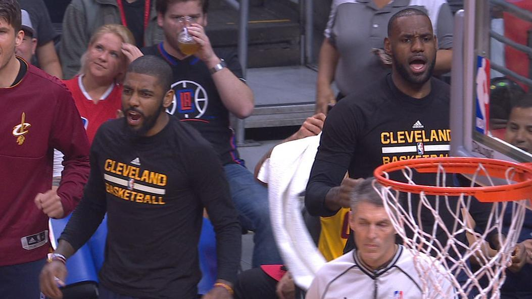 LeBron, Kyrie pumped up after Jefferson jam