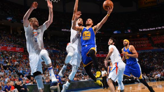 Warriors top Thunder again in chippy game