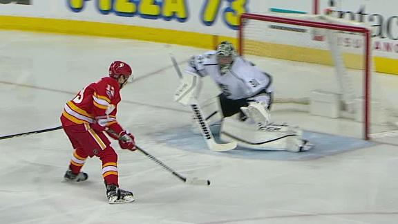 Gaudreau roofs breakaway goal in Flames' win