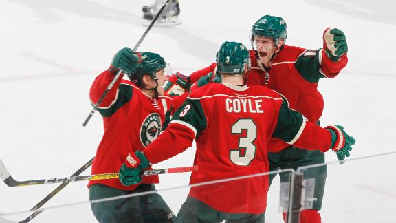 Coyle nets one-timer in Wild's win
