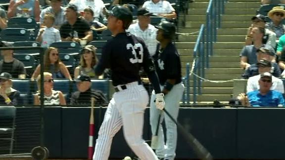 Bird ties for MLB lead with 7th spring training dinger