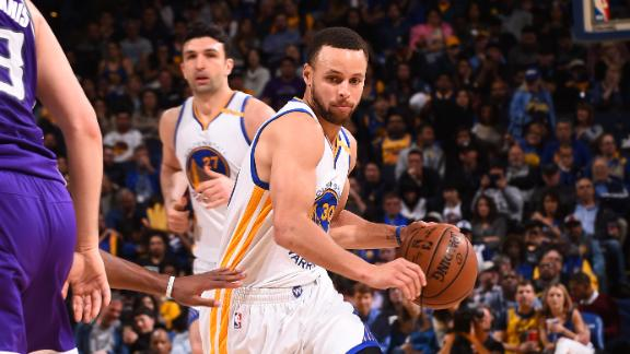 Warriors share the ball in win over Kings