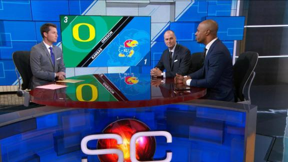 Who comes out on top in Kansas-Oregon?