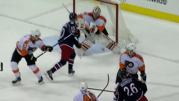 Wennberg's redirection wins it for the Blue Jackets