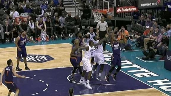 Hornets get lucky with tip shot