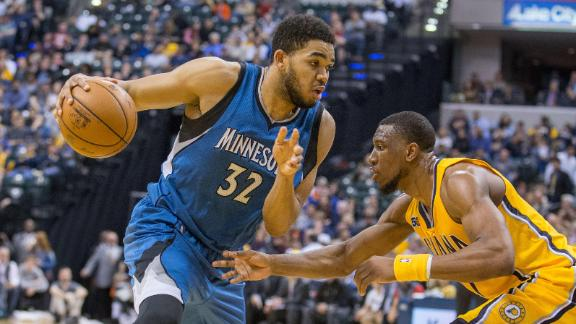 Wolves edge Pacers, snap six-game slide