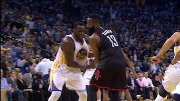 Draymond punches Harden in retaliation for getting pinched
