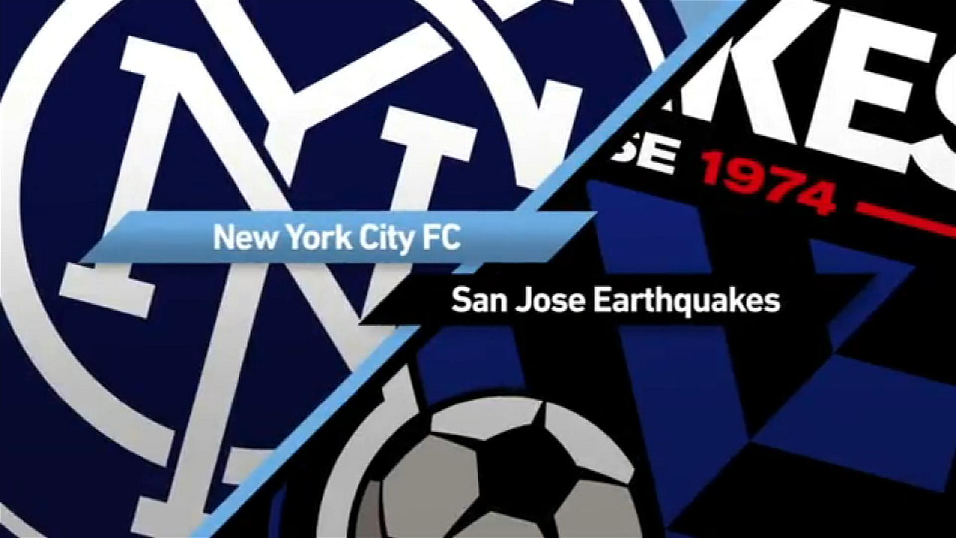 NYCFC 2-1 SJ Earthquakes - Via MLS