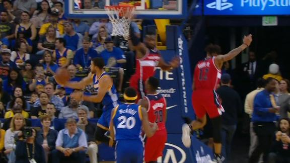 Curry baffles Wizards with sensational reverse layup