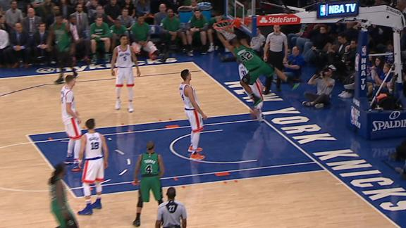 Celtics pull out bag of scoring tricks on Knicks