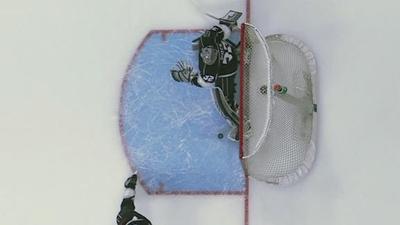 Quick makes miraculous kick save with skate