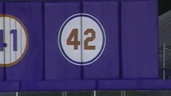 When No. 42 was retired across baseball
