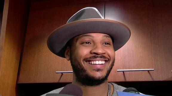 Melo 'Great feeling to hear' fans chanting his name
