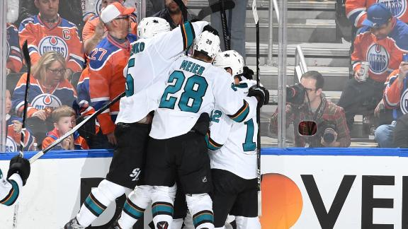 Sharks spoil Oilers playoff return with OT winner