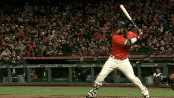 Crawford extends Giants' lead with solo blast