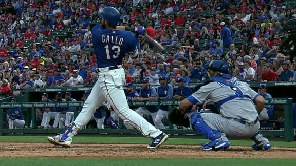 Gallo hits it all the way to the popcorn wagon!