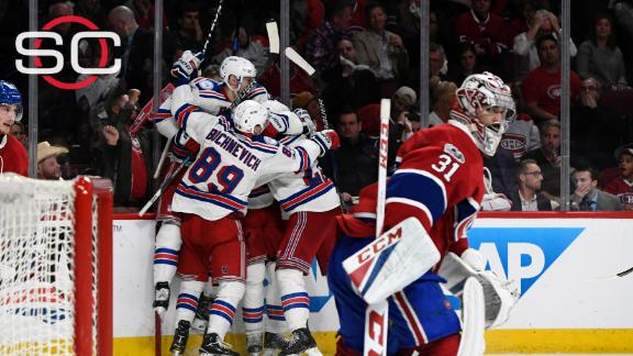 Rangers take series lead in OT