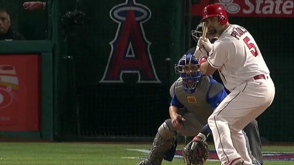 Pujols scores Trout on single to left