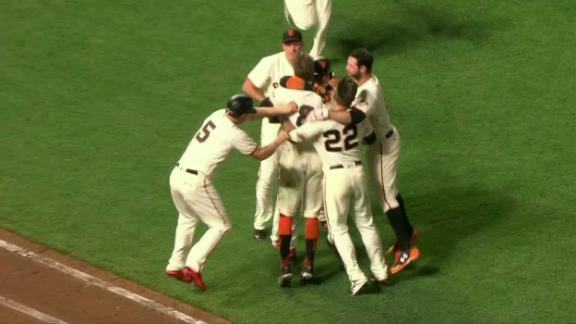 Giants walk-off on Pence's sac-fly in the 10th