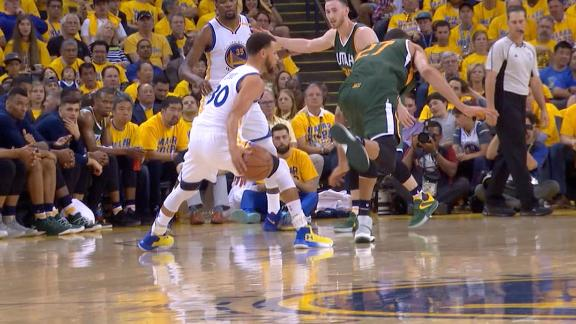 Curry puts Gobert through spin cycle