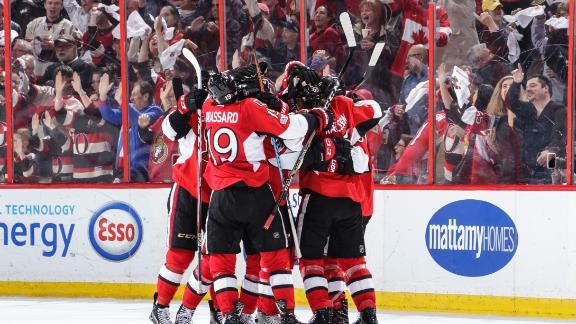 Senators prevail in OT for 3-2 series lead