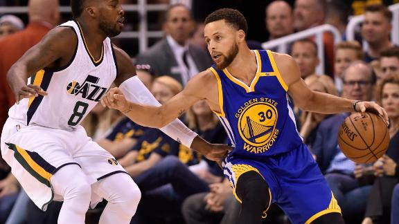 Warriors sweep Jazz, stay perfect in playoffs