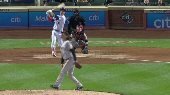 Conforto pads lead with solo homer