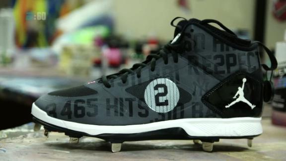 42d88b61e7f The artist behind Jeter s custom cleats - ESPN Video