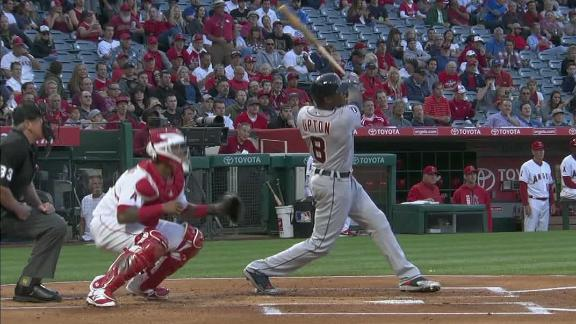 Upton, Fulmer lead Tigers to rare win at Angels, 7-1