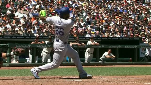 Puig stretches Dodgers' lead with RBI single