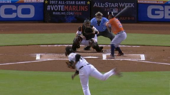 Springer scores easily on Altuve's double