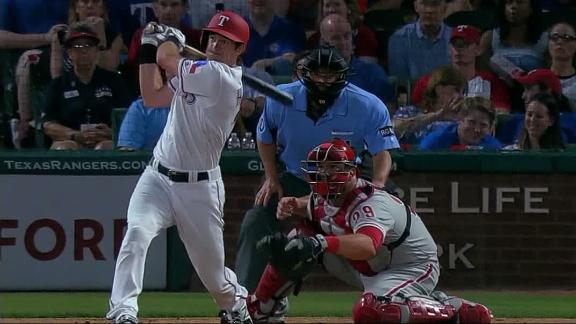 Rangers' rookie Hoying adds HR to huge game