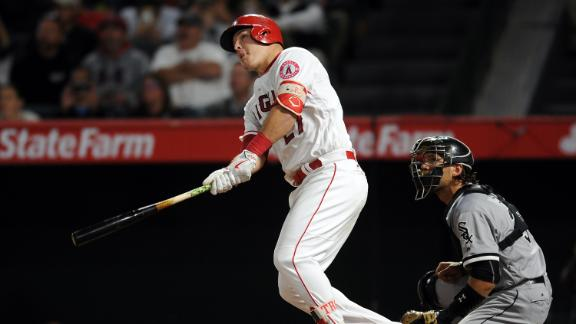 Trout homers for fifth time in six games