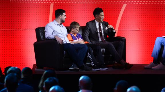 Booker takes special guest to NBA draft lottery