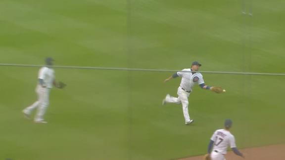 Schwarber commits two errors on one play